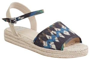 Fergalicious by Fergie Blue and Tan Sandals