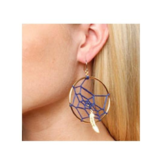 Disney DISNEY COUTURE POCAHONTAS DREAM CATCHER/FEATHER HOOP EARRINGS**NEW Image 2