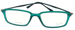 Ray-ban RX7019-5243-53 Unisex Shiny Green Frame Clear Lens Eyeglasses NWT