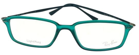 Ray-ban RX7019-5243-53 Unisex Shiny Green Frame Clear Lens Eyeglasses NWT Image 0
