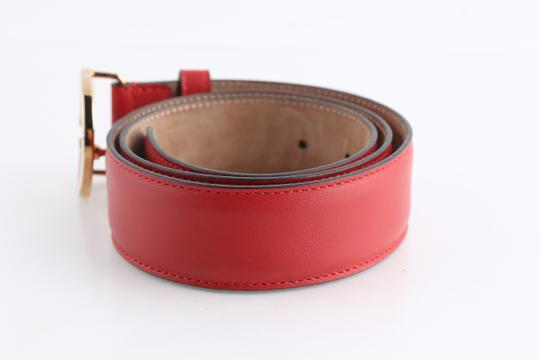 Gucci Gucci Red Leather Belt with Interlocking G Image 1