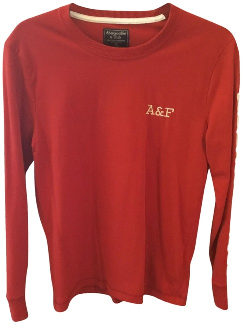Preload https://img-static.tradesy.com/item/25779656/abercrombie-and-fitch-vintage-monogram-red-sweater-0-1-650-650.jpg
