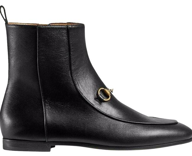 Item - Black Horsebit New Jordaan Leather Gold Short Chelsea Ankle Boots/Booties Size EU 36.5 (Approx. US 6.5) Regular (M, B)
