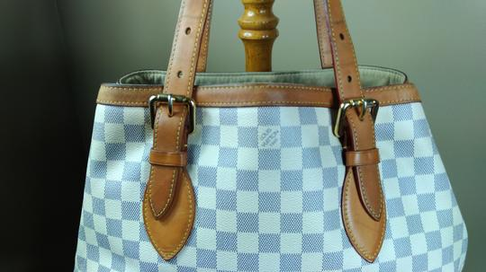 Louis Vuitton Damier Azur Canvas Hampstead Mm Tote Shoulder Bag Image 1