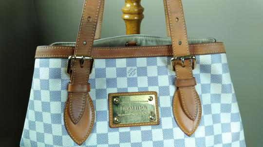 Louis Vuitton Damier Azur Canvas Hampstead Mm Tote Shoulder Bag Image 2