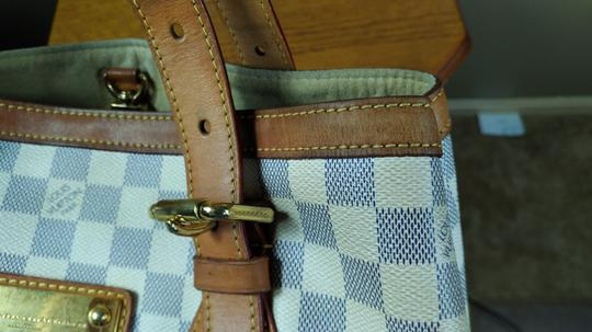 Louis Vuitton Damier Azur Canvas Hampstead Mm Tote Shoulder Bag Image 7