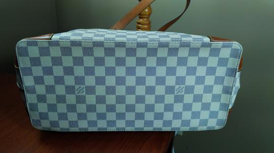 Louis Vuitton Damier Azur Canvas Hampstead Mm Tote Shoulder Bag Image 8