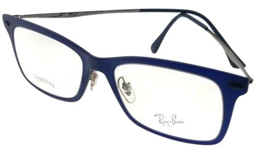Ray-Ban RX7039-5451 Light Ray Unisex Blue Frame Clear Lens 53mm Eyeglasses Image 0