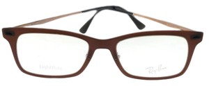 Ray-Ban RX7039-5450-51 Light Ray Unisex Brown Frame Clear Lens Eyeglasses NWT