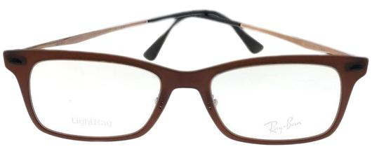 Ray-Ban RX7039-5450-51 Light Ray Unisex Brown Frame Clear Lens Eyeglasses NWT Image 0