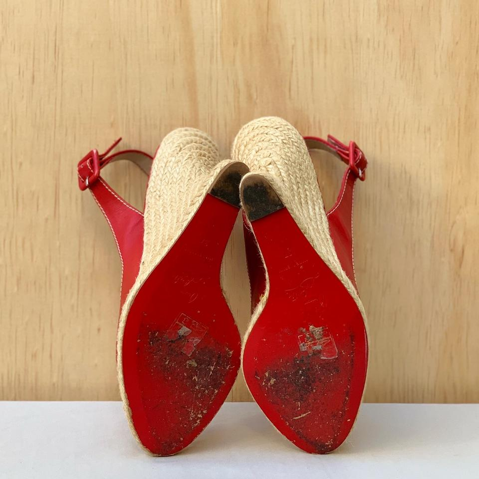 3367cf37538 Christian Louboutin Red You Love Leather Espadrille Sandal Wedges Size EU  37 (Approx. US 7) Regular (M, B) 63% off retail