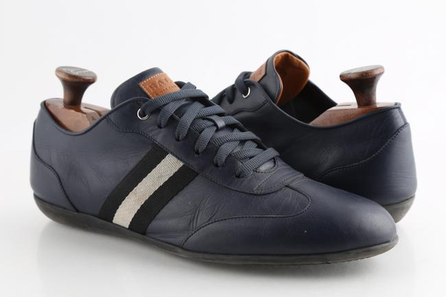 Item - Blue Calf Leather Harlam Runner Sneakers Shoes