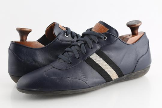 Bally Blue Calf Leather Harlam Runner Sneakers Shoes Image 1