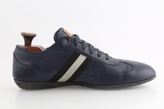 Bally Blue Calf Leather Harlam Runner Sneakers Shoes Image 4