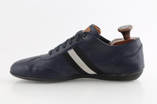 Bally Blue Calf Leather Harlam Runner Sneakers Shoes Image 5