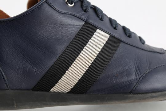 Bally Blue Calf Leather Harlam Runner Sneakers Shoes Image 6