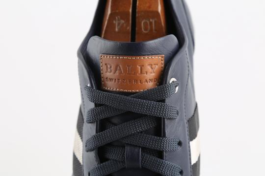 Bally Blue Calf Leather Harlam Runner Sneakers Shoes Image 8
