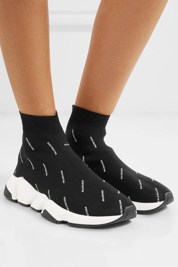 Balenciaga Speed Trainers Sneakers Logo Black Athletic Image 10