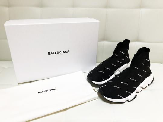 Balenciaga Speed Trainers Sneakers Logo Black Athletic Image 3