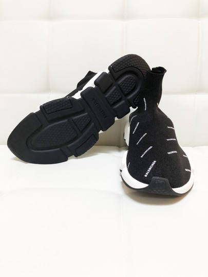 Balenciaga Speed Trainers Sneakers Logo Black Athletic Image 5