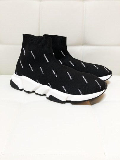 Balenciaga Speed Trainers Sneakers Logo Black Athletic Image 8