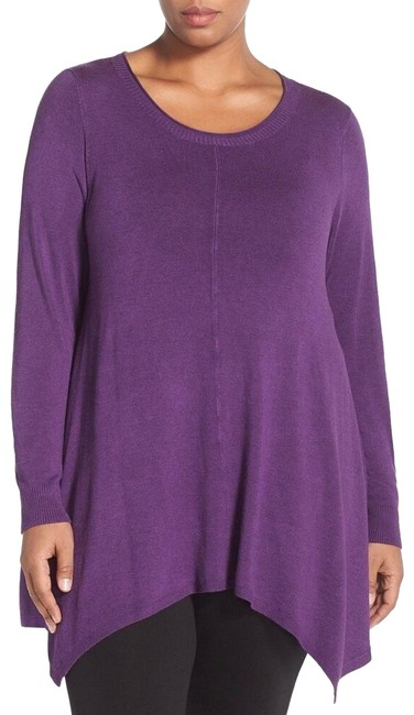 Preload https://img-static.tradesy.com/item/25779778/eileen-fisher-purple-african-violet-round-neck-sweater-tunic-size-20-plus-1x-0-1-650-650.jpg