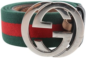 Gucci Gucci Web Belt with G Buckle