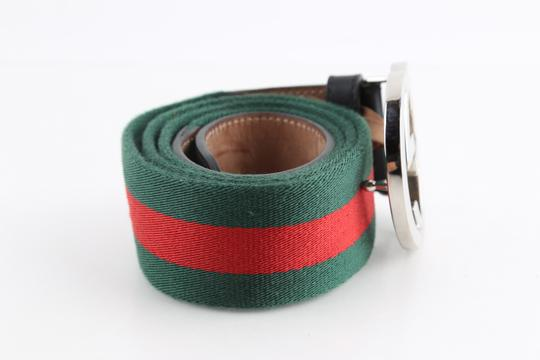 Gucci Gucci Web Belt with G Buckle Image 2