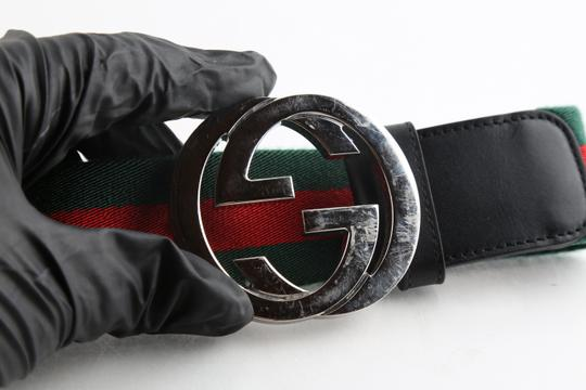 Gucci Gucci Web Belt with G Buckle Image 8