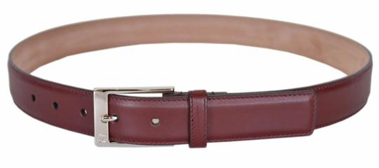 Gucci Red Strong Leather Interlocking Logo Square Buckle Belt 105/42 345658 Men's Jewelry/Accessory Image 1