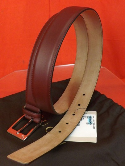 Gucci Red Strong Leather Interlocking Logo Square Buckle Belt 105/42 345658 Men's Jewelry/Accessory Image 3