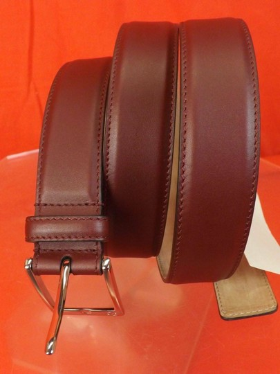 Gucci Red Strong Leather Interlocking Logo Square Buckle Belt 105/42 345658 Men's Jewelry/Accessory Image 6