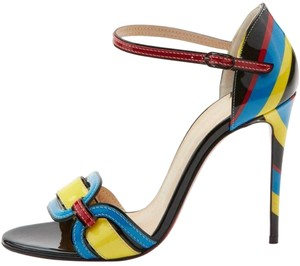 Christian Louboutin Ankle Strap Airstripe Multi Sandals