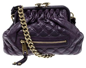 Marc Jacobs Leather Fabric Shoulder Bag