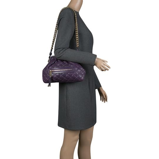 Marc Jacobs Leather Fabric Shoulder Bag Image 2