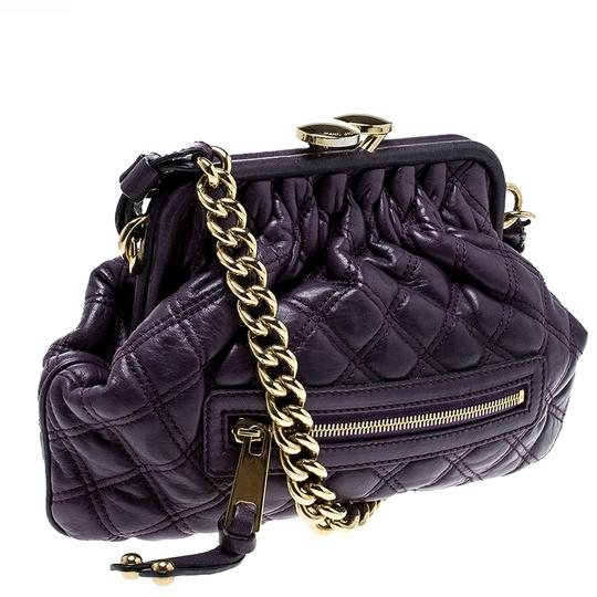 Marc Jacobs Leather Fabric Shoulder Bag Image 3