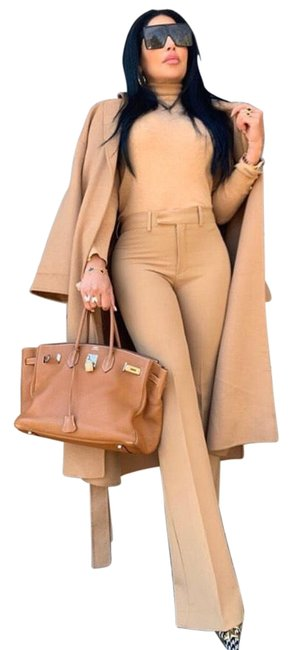 Item - Camel Tan High Waisted Trousers Pants Size 8 (M, 29, 30)