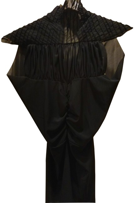 Item - Black XS Made In Australia Sheer Pleated Stretch Blouse Size 2 (XS)