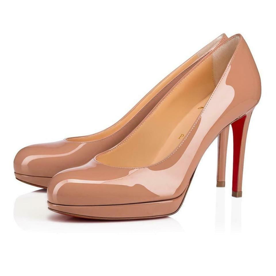 caf61c3b7c8 Christian Louboutin Nude New Simple 100 Patent Leather Platform Heels Pumps  Size EU 35 (Approx. US 5) Regular (M, B) 21% off retail