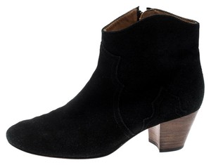 Isabel Marant Suede Ankle Leather Black Boots