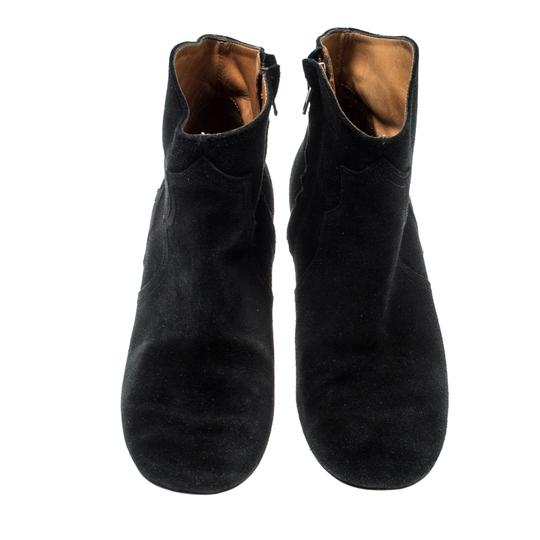 Isabel Marant Suede Ankle Leather Black Boots Image 1