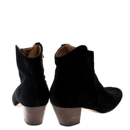 Isabel Marant Suede Ankle Leather Black Boots Image 2
