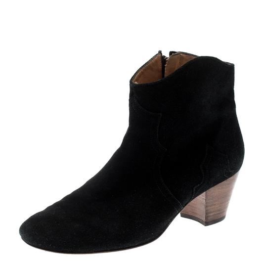Isabel Marant Suede Ankle Leather Black Boots Image 3
