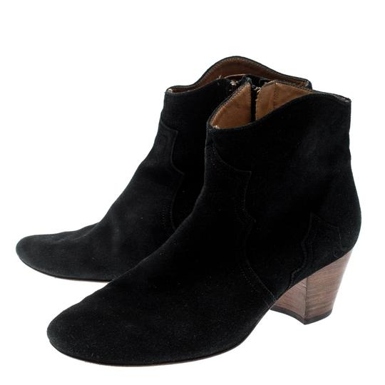 Isabel Marant Suede Ankle Leather Black Boots Image 4