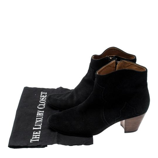 Isabel Marant Suede Ankle Leather Black Boots Image 7