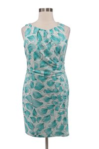 Ann Taylor Floral Crepe Sleeveless Wrap Dress
