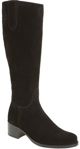 La Canadienne Riding Knee High BLACK SUEDE Boots