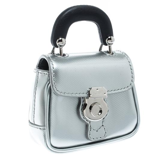 Burberry Grey/Black Patent Leather DK88 Bag Charm Image 1