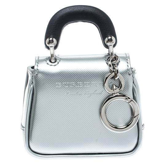 Burberry Grey/Black Patent Leather DK88 Bag Charm Image 2