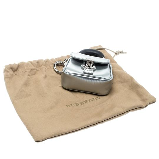 Burberry Grey/Black Patent Leather DK88 Bag Charm Image 7
